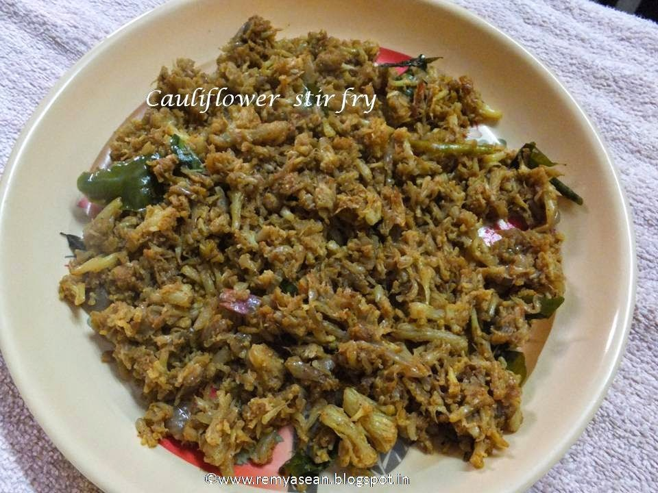 how to prepare cauliflower curry for chapathi