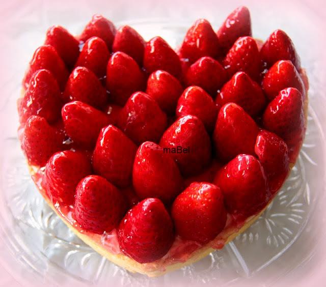 Tarta de fresa o frutilla
