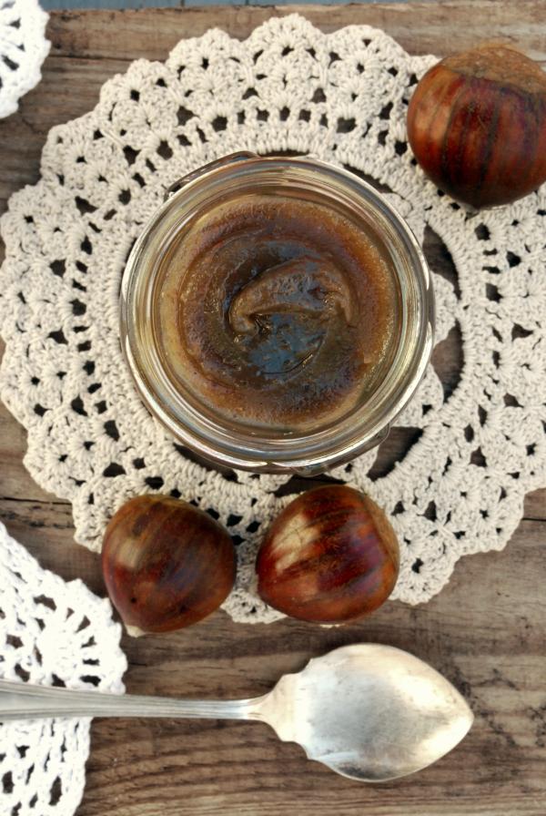 crema dulce de castañas   homemade chestnut spread