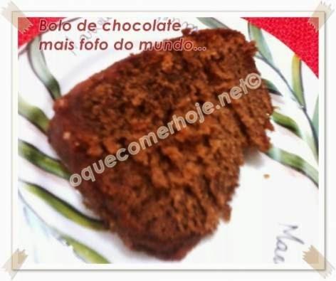 """Bolo de chocolate mais fofo do mundo - Receita (""""Bolo de chocolate Renata Fraia"""")"""
