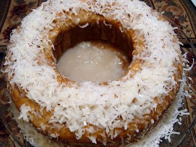 bolo de coco com fécula de batata
