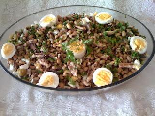 salada de feijão fradinho com sardinha em lata