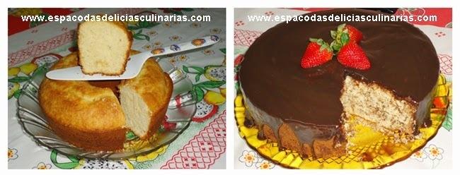 Uma receita, 2 bolos: Bolo de baunilha simples e bolo formigueiro