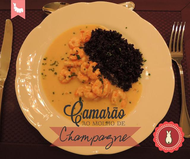 Camarão ao Molho de Champagne