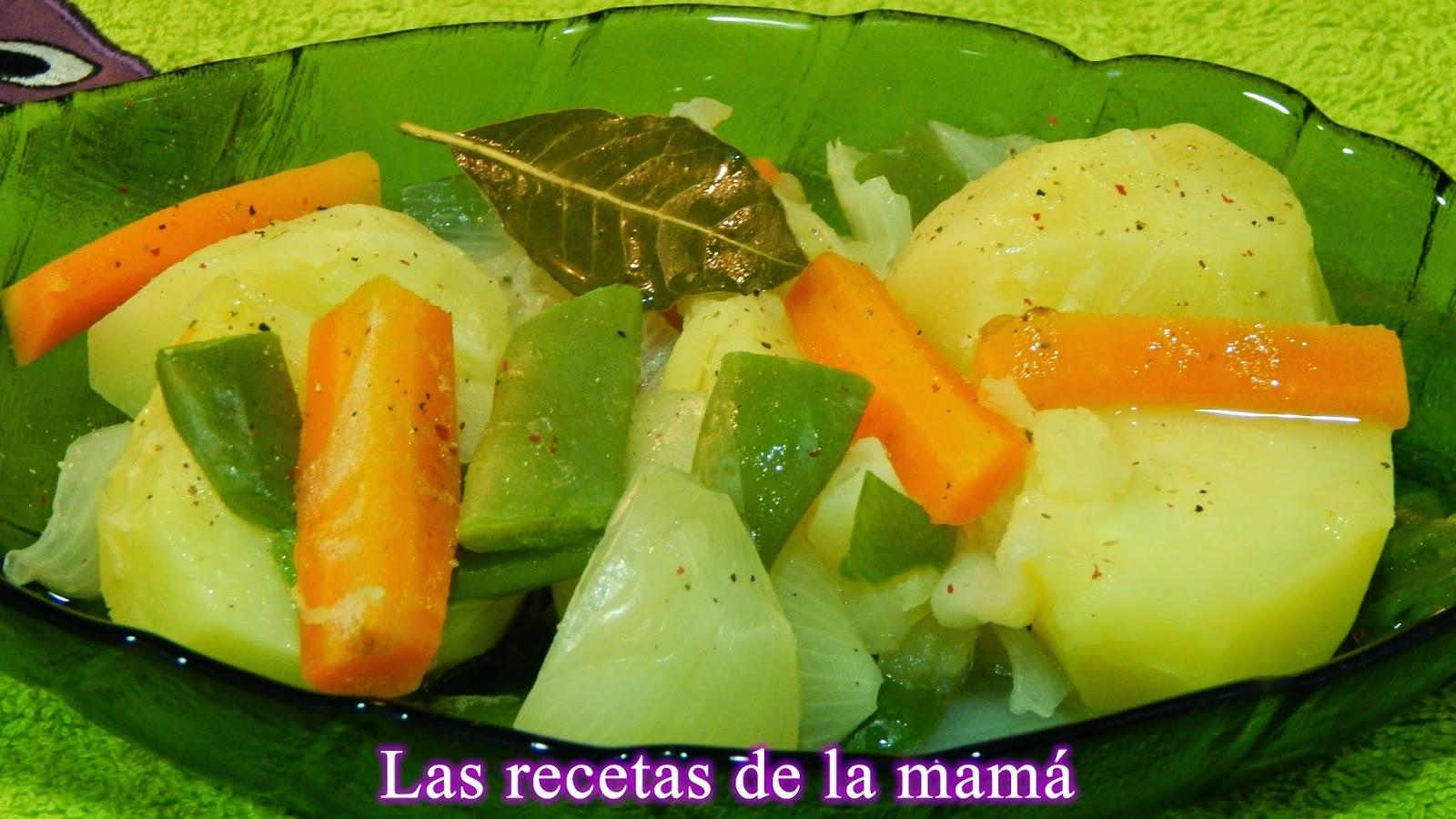 Receta ligera de verduras cocidas