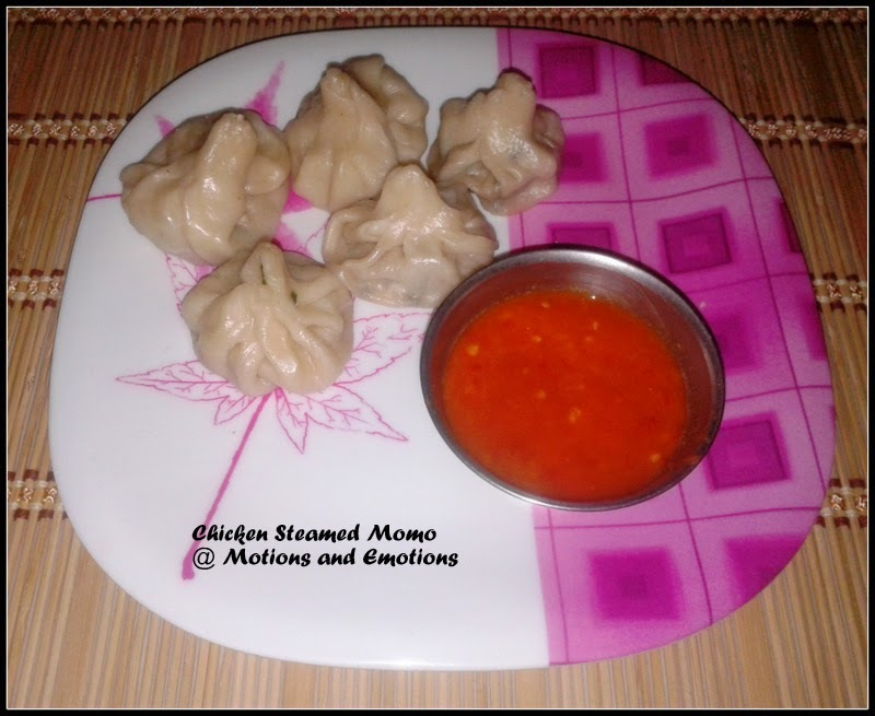 Chicken Momo / Steamed Chicken Momo / Chicken Steamed Momo