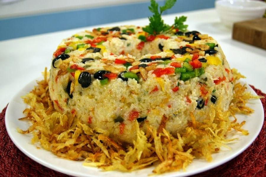 bolo de arroz cru salgado