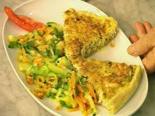 Receta: Tarta de pollo con verduras al vapor