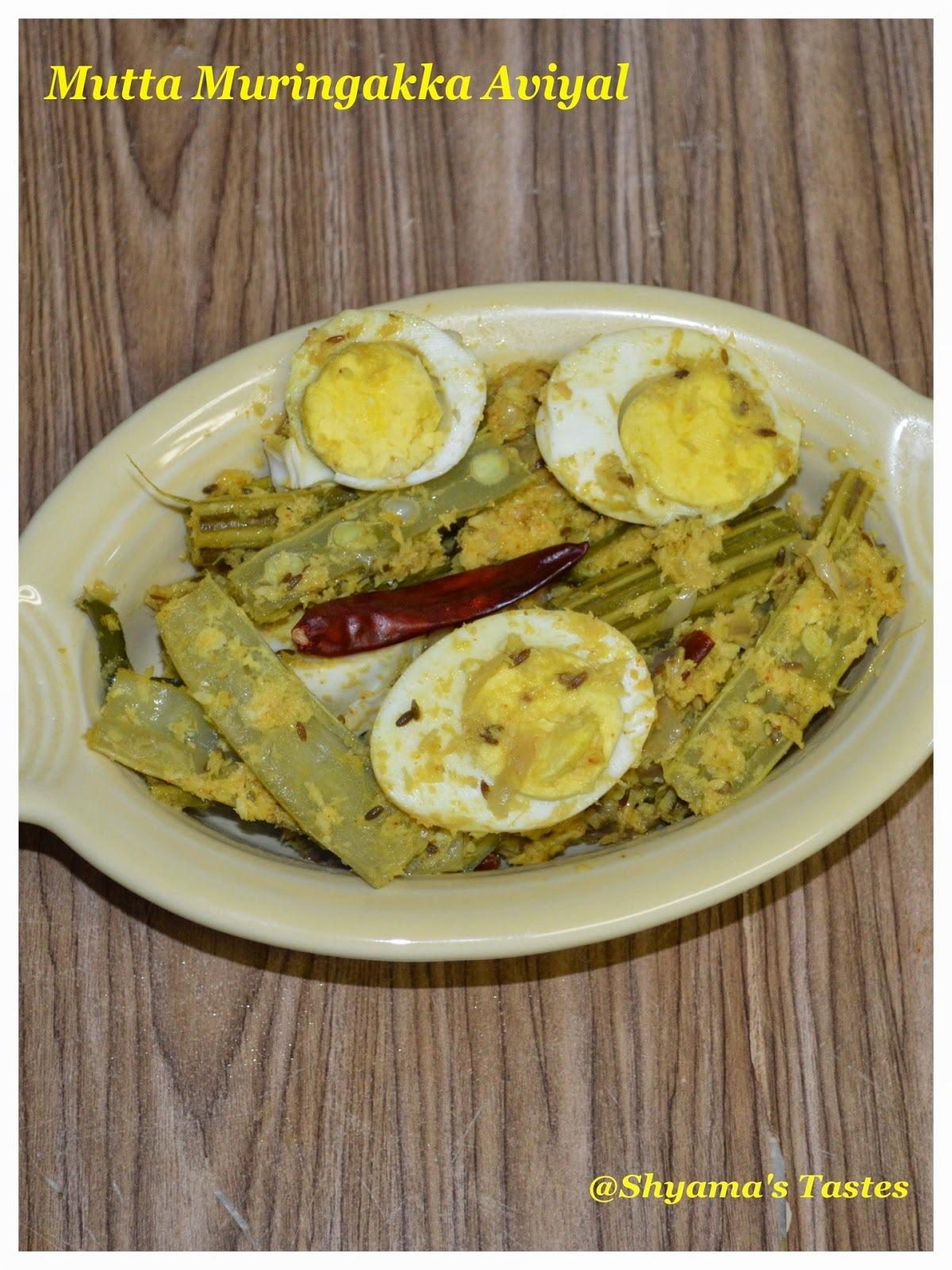 Mutta Muringakka Aviyal/Drumstick Egg Aviyal