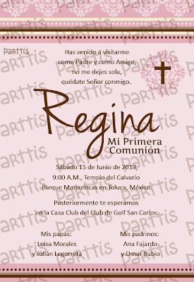 12 oraciones para invitaciones :: Bautizo / Primera Comunión