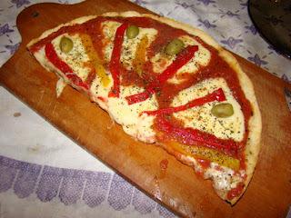 pizza de harina de mandioca