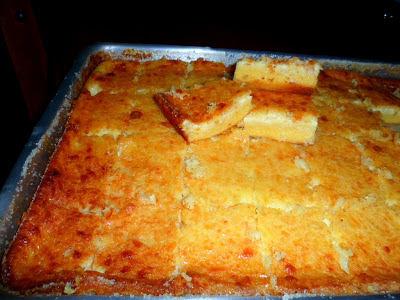 de bolo de goma sem queijo com leite de coco e açucar