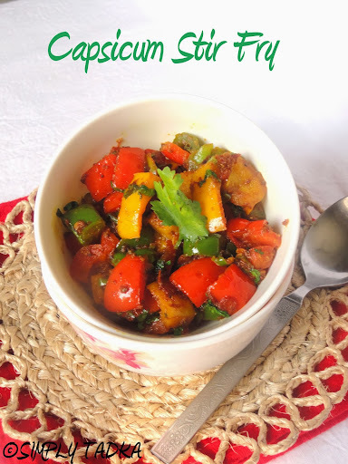 Capsicum Stir Fry| Capsicum Recipes