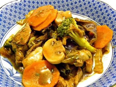 Filé Mignon com Molho Oriental e Legumes