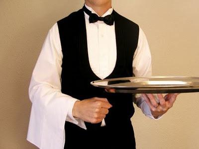 Ordem de serviço para um jantar de cerimônia