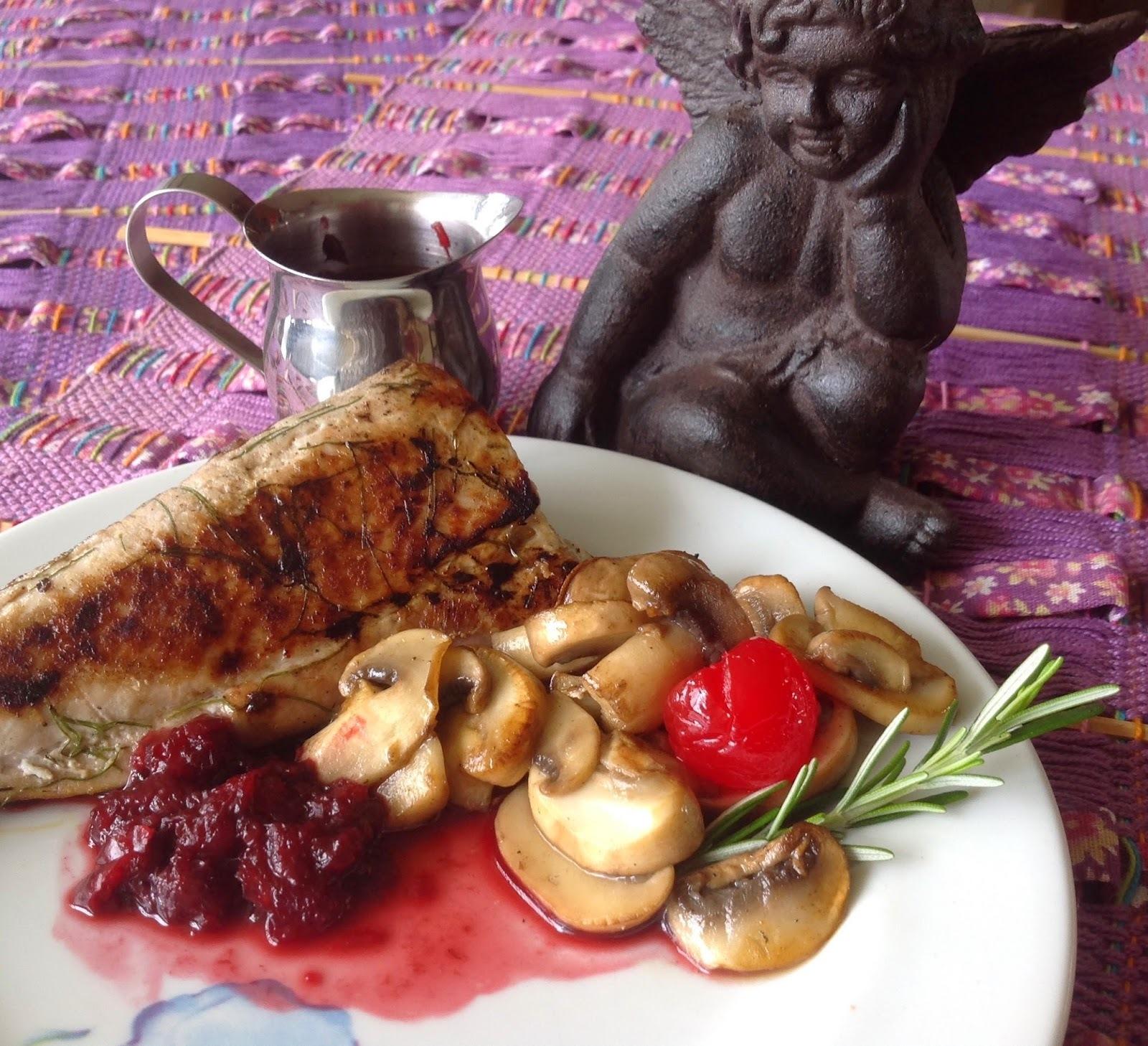 Atum com Batatas Sauté e Cogumelos laminados