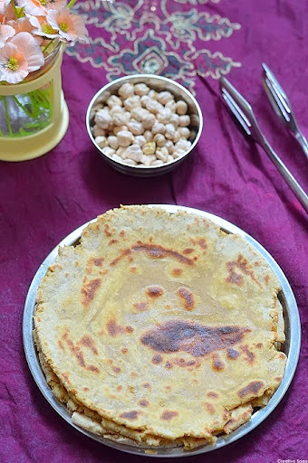 Channa masala parathas- leftover recipes- Kids food recipes
