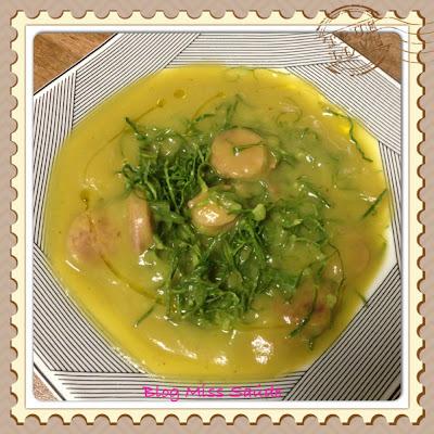 Caldo Verde de Batata doce com linguiça toscana