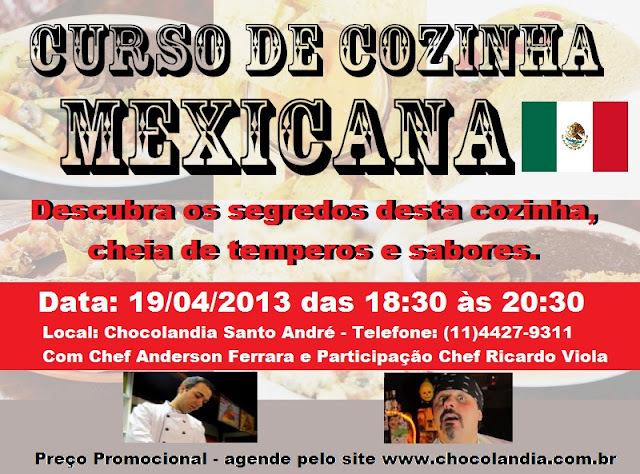 Curso de cozinha MEXICANA - 19/04