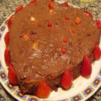 bolo de chocolate recheado de chocolate mole