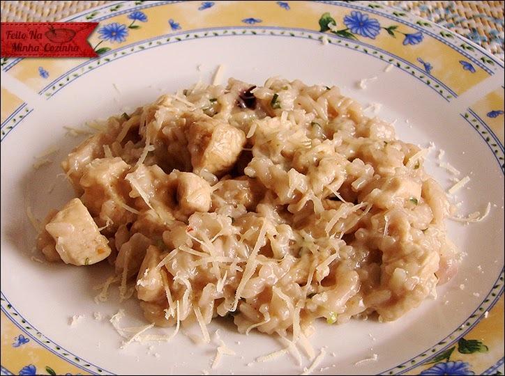 risoto de frango simples e cremoso