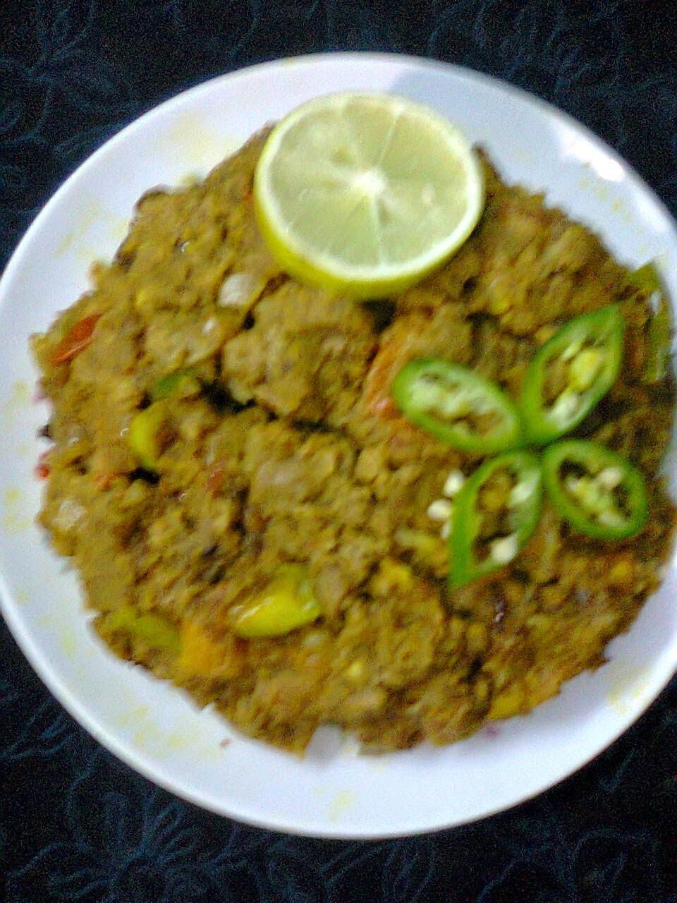 Side Dish For Roti/Paratha  -  Soya Keema Bharta.