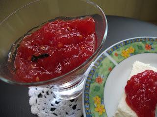 Geléia de Tomates no microondas