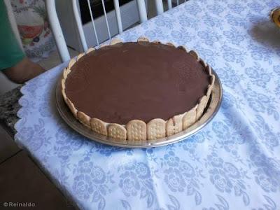 Torta Mousse de Limão com Ganache