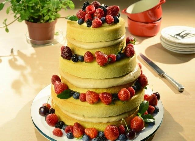 Naked Cake com Frutas Vermelhas União