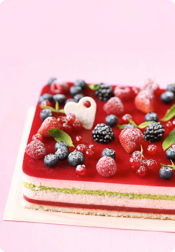 Торт с лесными ягодами / Torta de frutos silvestres