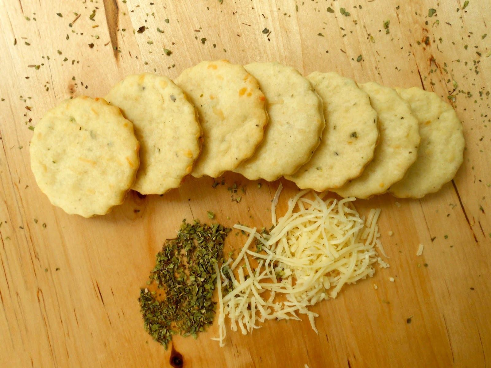 Galletas de queso y orégano