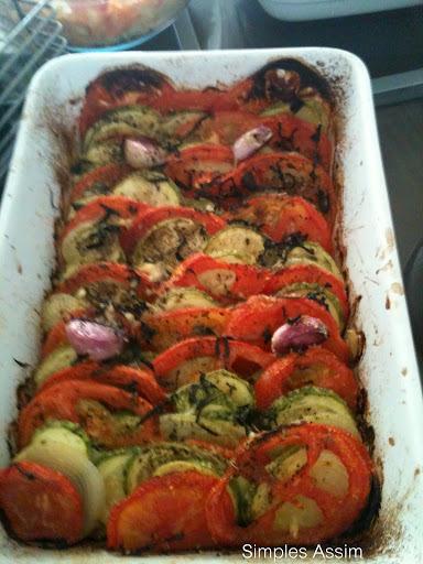 Para iniciar o ano levemente - Legumes grelhados no forno