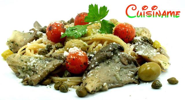 Pasta con Setas   Receta de espaguetis