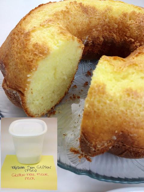 Como Fazer Mistura de Farinha Sem Glúten e receita De Bolo De Yogurte Sem Glúten - How to make a Gluten Free Flour Mix and Gluten Free Yogurt Cake