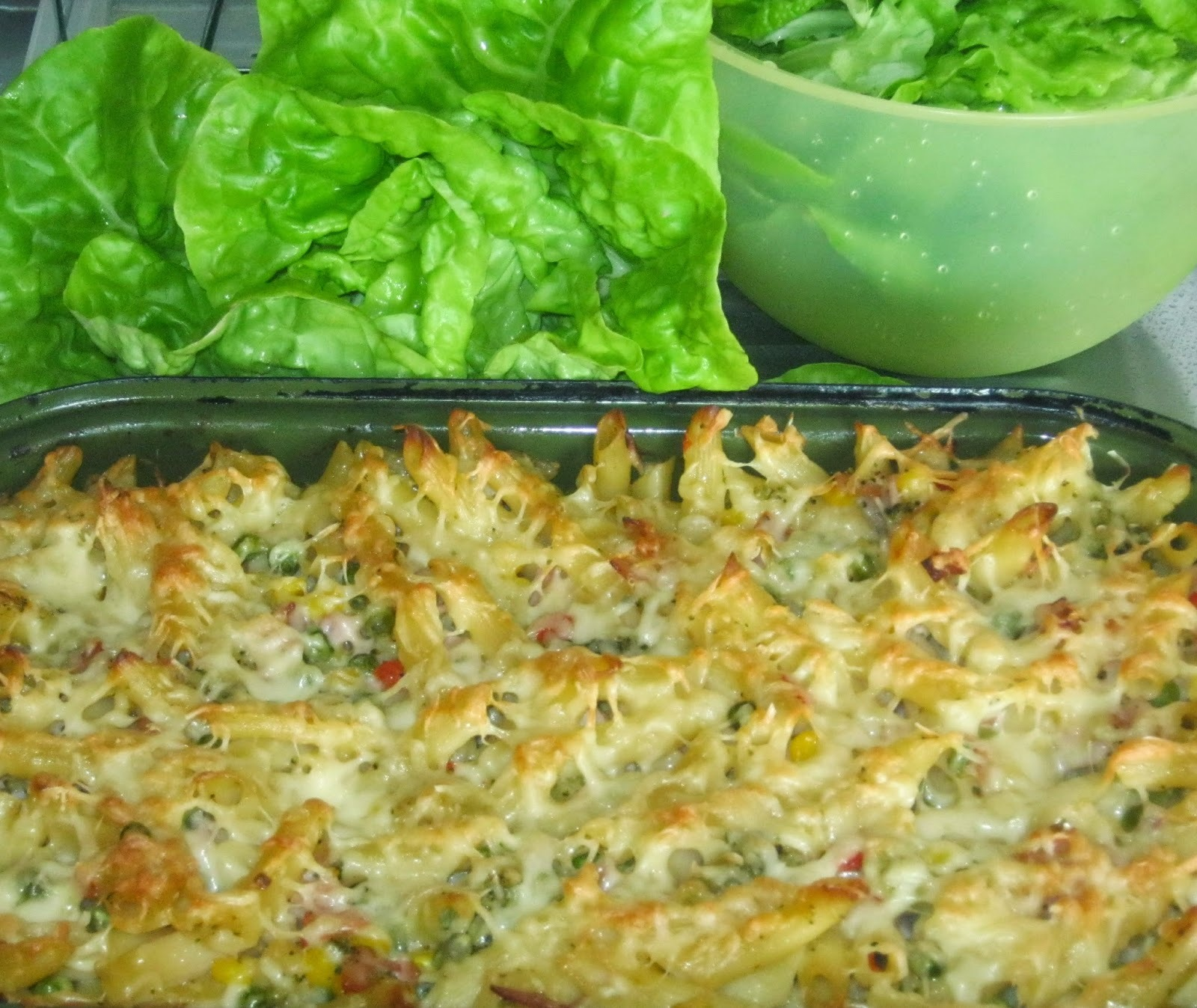 zapekané cestoviny s brokolicou a syrom