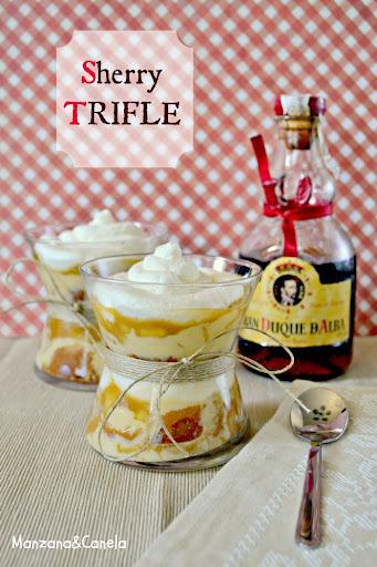 Sherry Trifle con manzana caramelizada con canela para el Día Mundial del Jerez