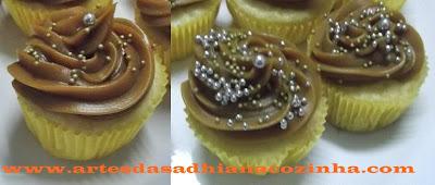 Cupcake de Baunilha e doce de leite presentes Ducoco e  resultado do sorteio  Piracanjuba