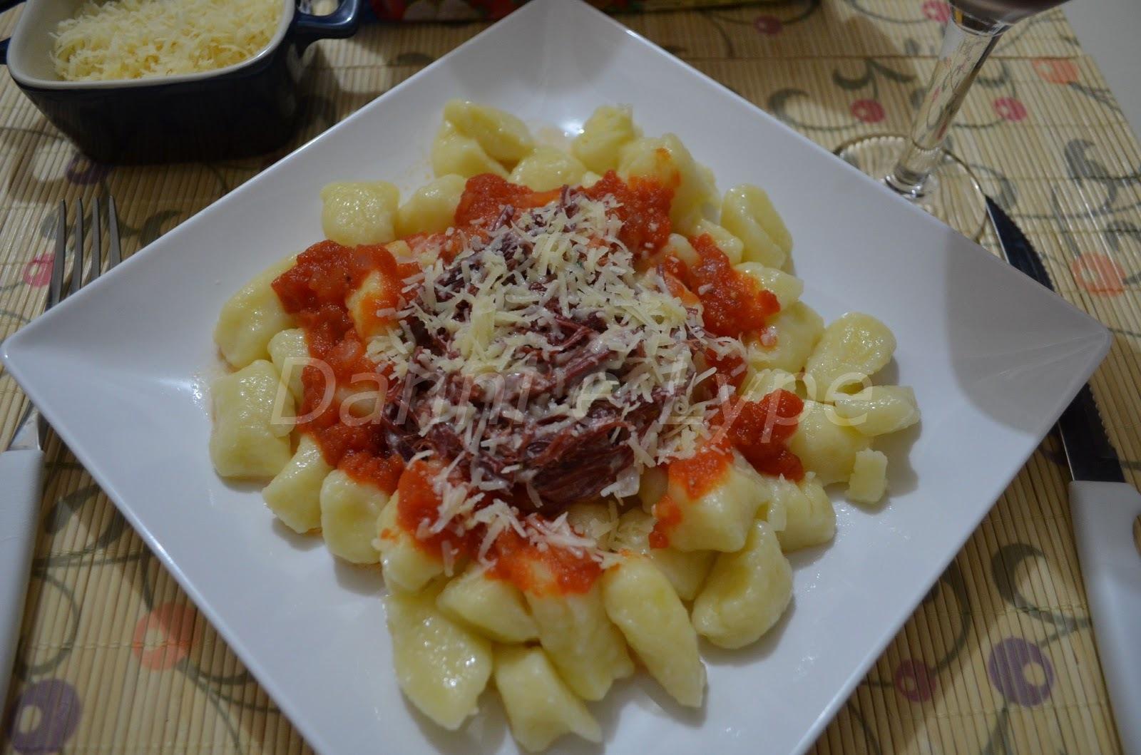 Nhoque de Batata com Carne Seca