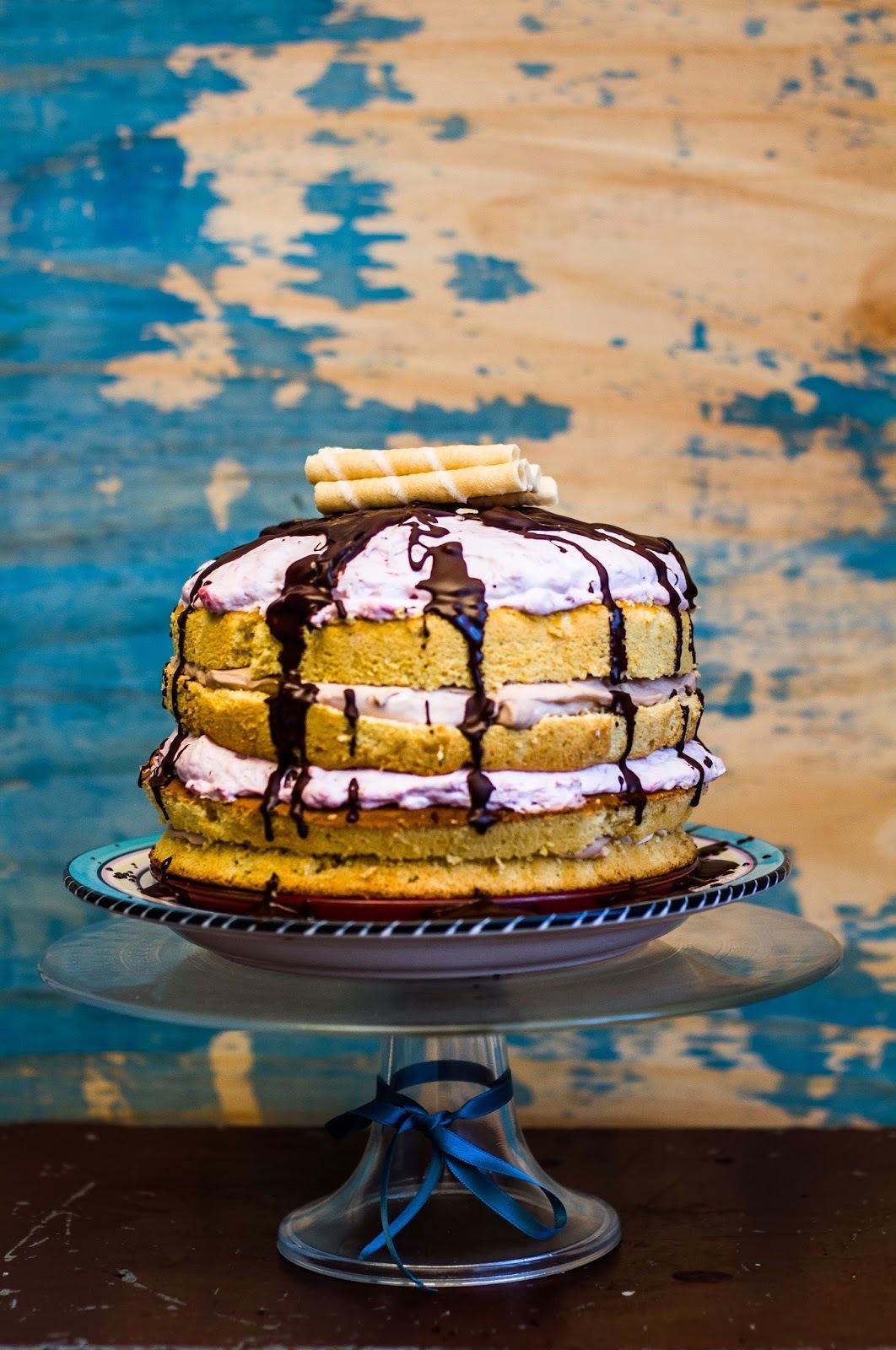 Epres-csokis torta