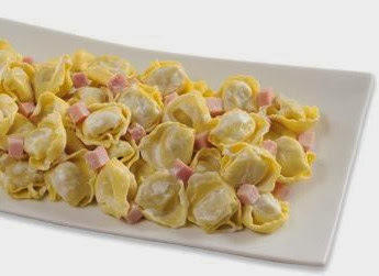 Capelletti de jamón y queso (sin amasar)