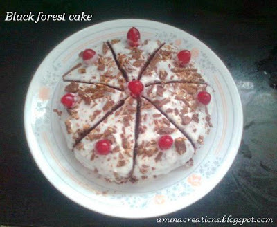 HOW TO MAKE BLACK FOREST CAKE AT HOME