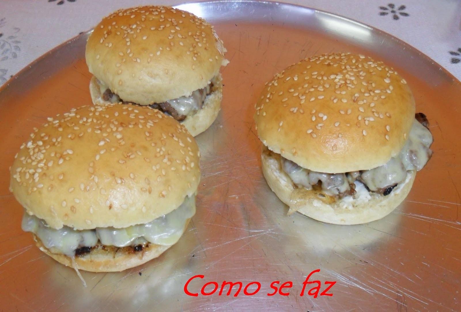 Hambúrguer saudável (completo)