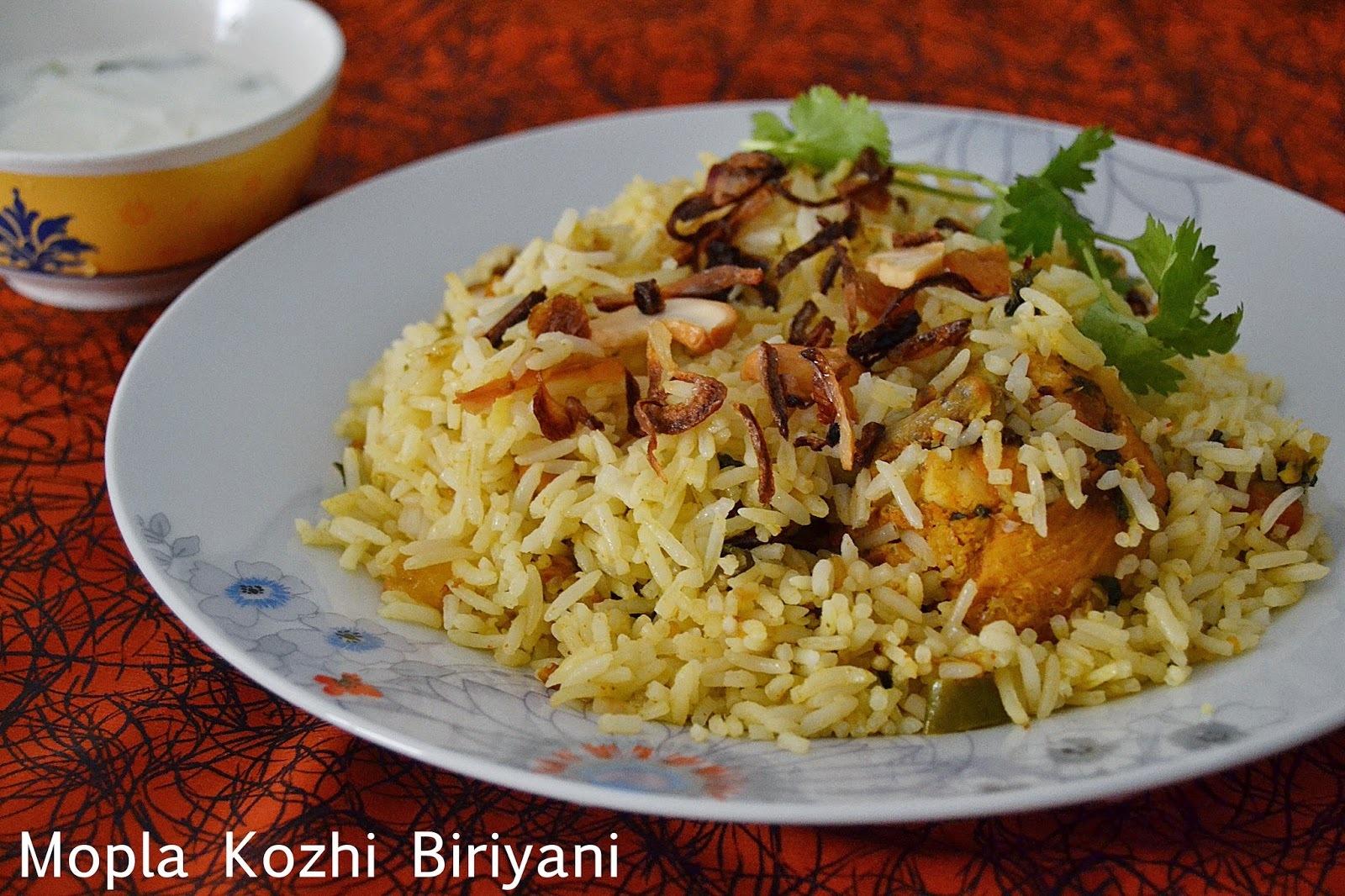 Mopla Kozhi Biriyani ~ Mappila Chicken Biriyani