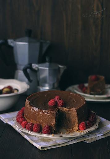 Tarta de castañas y chocolate. Tarta fácil, rápida y deliciosa.