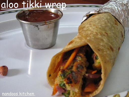 Aloo tikki wrap