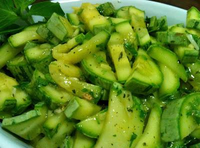 salada de abobrinha com mostarda
