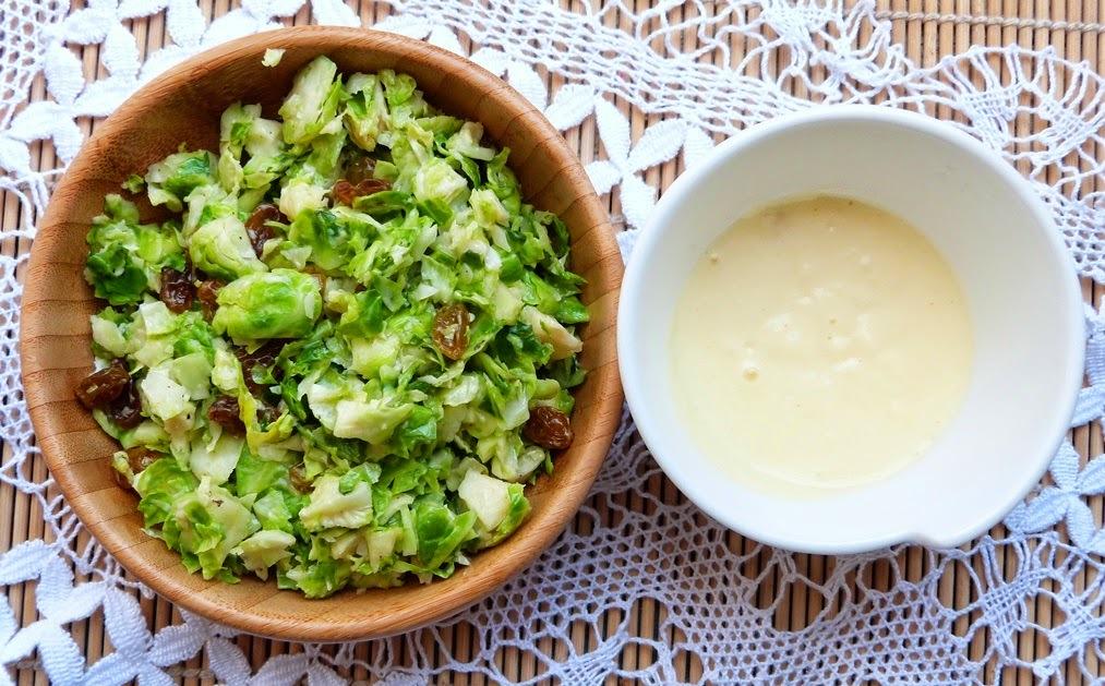 Receita: salada de couve de bruxelas