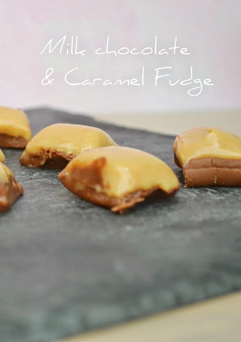 Fudge με Σοκολάτα & Καραμέλες Γάλακτος - Milk Chocolate & Caramel Fudge