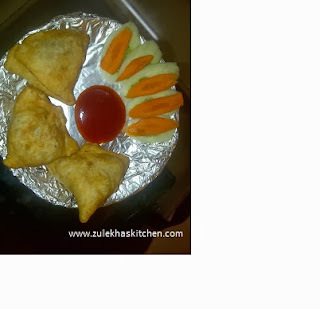 recipe of samosa ( indian snack )