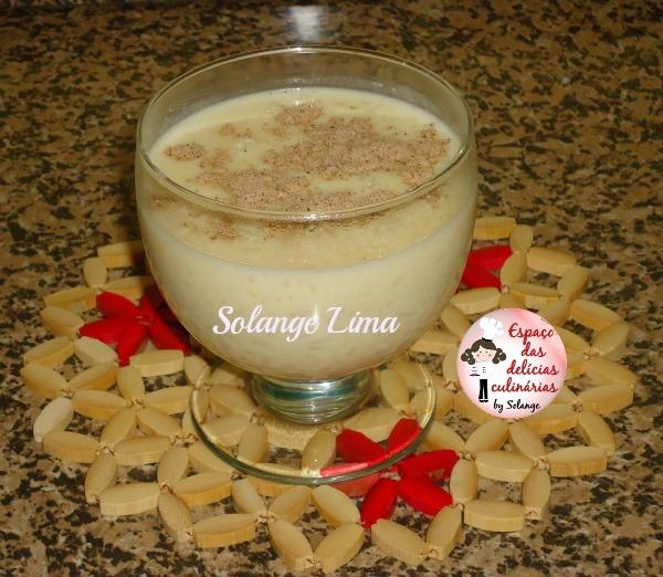 Arroz doce com leite condensado e coco